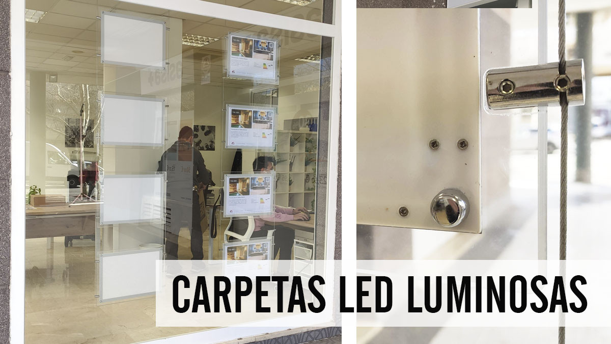 carpetas led para escaparates de Inmobiliarias